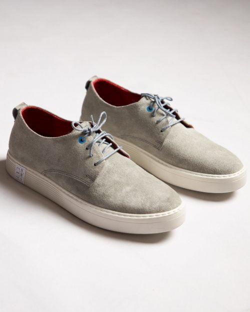 کفش نوبوک مردانه طوسی کمرنگ-جفت