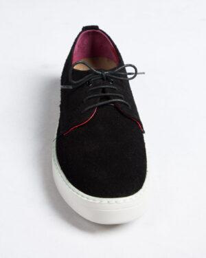 کفش نوبوک مردانه مشکی-روبه-رو