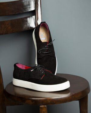 کفش نوبوک مردانه مشکی-محیطی