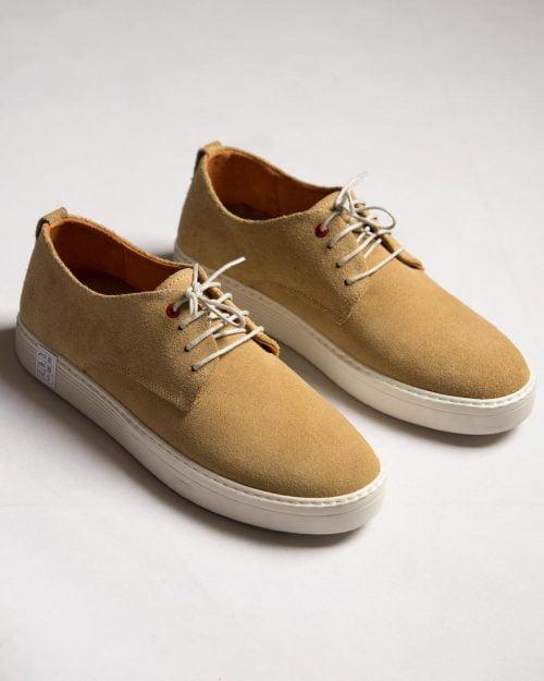کفش نوبوک مردانه کرمی سیر-جفت