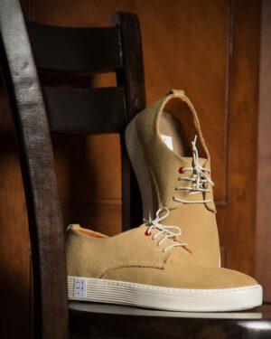 کفش نوبوک مردانه کرمی سیر-محیطی
