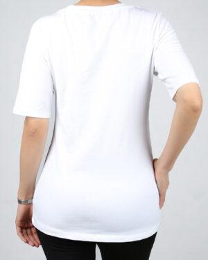تیشرت طرح میکی موس- سفید- پشت- محیطی