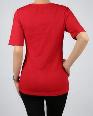 تیشرت طرح میکی موس- قرمز-پشت- محیطی