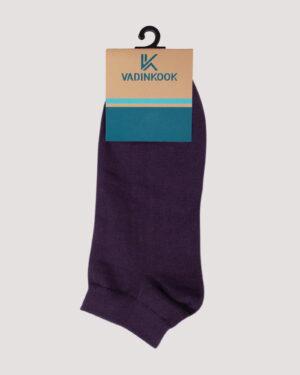 جوراب ساق کوتاه اسپرت- بنفش- روبرو-