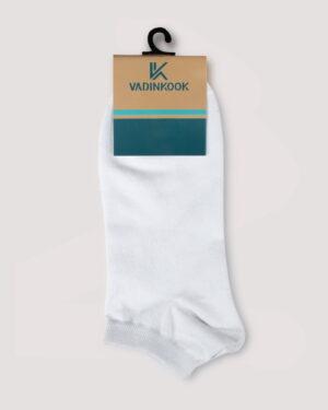 جوراب ساق کوتاه اسپرت- سفید- روبرو-محیطی