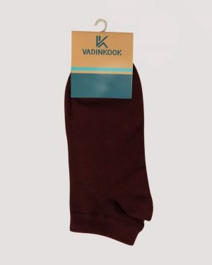 جوراب ساق کوتاه اسپرت- عنابی- روبرو