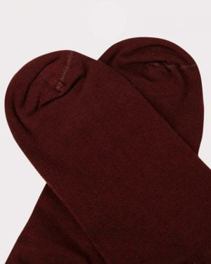 جوراب ساق کوتاه اسپرت- عنابی- روبه-رو