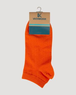 جوراب ساق کوتاه اسپرت- نارنجی- روبرو
