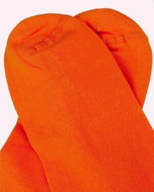 جوراب ساق کوتاه اسپرت- نارنجی- روبه-رو