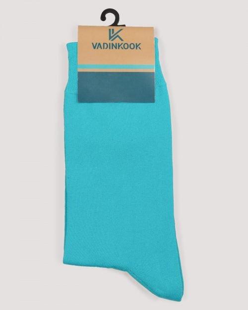 جوراب نخی ساده- آبی آسمانی- روبرو-محیطی