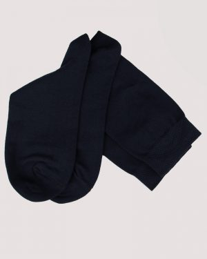 جوراب نخی ساده- سرمه ای- جفت