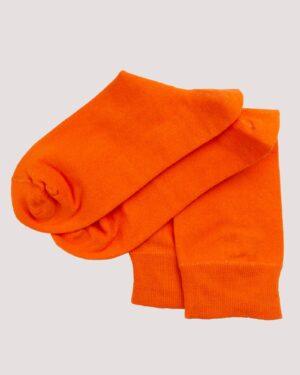 جوراب نخی ساده- نارنجی- جفت