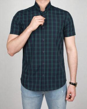 پیراهن آستین کوتاه سبز- روبرو
