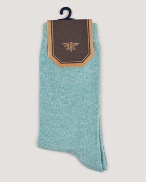 جوراب اسپرت رنگی کشی- سبزآبی-روبرو