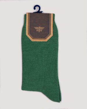 جوراب اسپرت رنگی کشی- سبز- روبرو