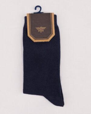 جوراب اسپرت رنگی کشی- سرمه ای- روبرو