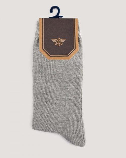 جوراب اسپرت رنگی کشی- طوسی-روبرو