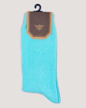 جوراب اسپرت رنگی کشی- فیروزه ای- نمای روبرو