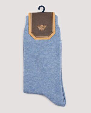 جوراب اسپرت رنگی کشی- نیلی- روبرو