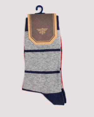 جوراب راه راه رنگی ساق دار- ملانژ- روبرو- محیطی