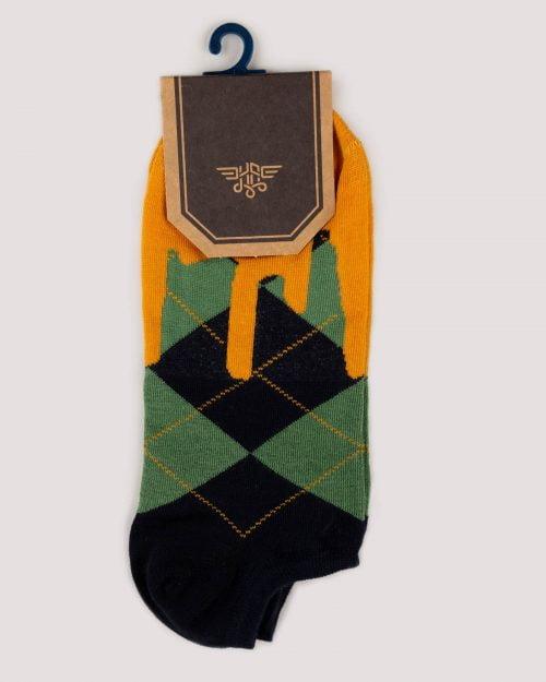 جوراب ساق کوتاه اسپرت مردانه-چند رنگ- روبرو
