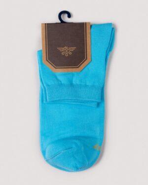 جوراب مردانه نخی- آبی روشن- روبرو محیطی