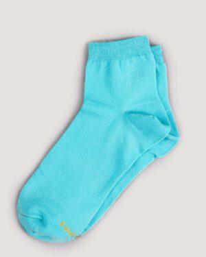 جوراب مردانه نخی- آبی فیروزه ای- جفت