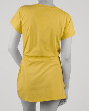سارافون زنانه طرح دار- زرد- پشت
