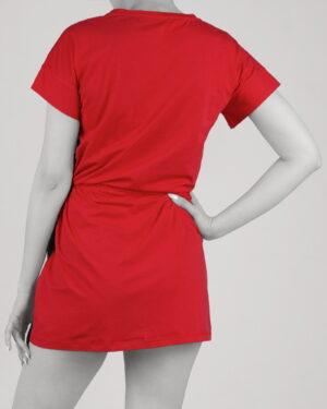 سارافون زنانه طرح دار- قرمز- پشت