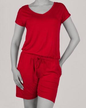 سرهمی زنانه اسپرت- قرمز- روبرو