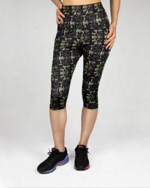 شلوارک ورزشی زنانه- زرد- روبرو
