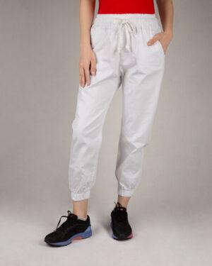 شلوار دمپا کش زنانه- سفید- روبرو