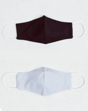 ماسک تنفسی پارچه ای-بادمجونی-بیرون و آستر ماسک