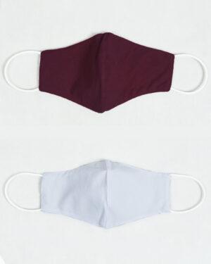 ماسک پارچه ای تنفسی- بادمجانی (6)