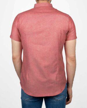 پیراهن آستین کوتاه مردانه نخی- صورتی- پشت
