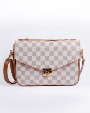 کیف دوشی زنانه اسپرت- شیری-روبرو