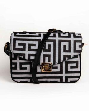 کیف دوشی زنانه اسپرت- طوسی کمرنگ- روبرو