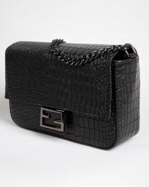 کیف دوشی زنانه مشکی- نمای بغل