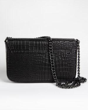 کیف دوشی زنانه مشکی- پشت- زنجیر