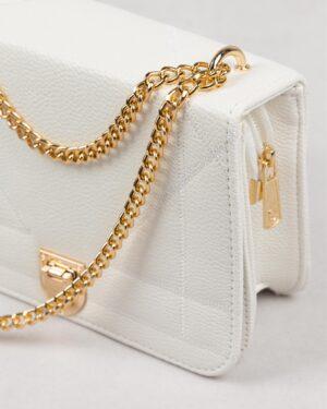 کیف زنانه مجلسی- سفید- بغل