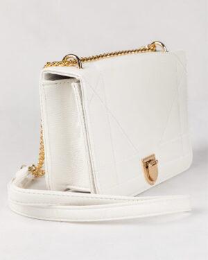 کیف زنانه مجلسی- سفید- روبرو