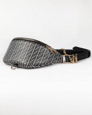 کیف کمری اسپرت دخترانه- طوسی- روبرو