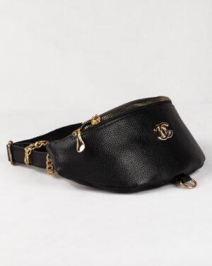 کیف کمری اسپرت دخترانه- مشکی- روبرو
