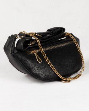 کیف کمری اسپرت دخترانه- مشکی- پشت