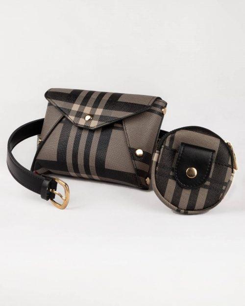 کیف کمری اسپرت زنانه- قهوه ای- نمای روبرو