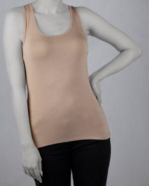 تاپ آستین حلقه ای اسپرت زنانه- خاکی- روبرو
