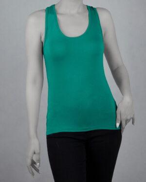 تاپ آستین حلقه ای اسپرت زنانه- سبز دریایی- روبرو