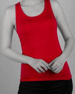 تاپ آستین حلقه ای اسپرت زنانه- قرمز- روبرو