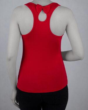 تاپ آستین حلقه ای اسپرت زنانه- قرمز- پشت