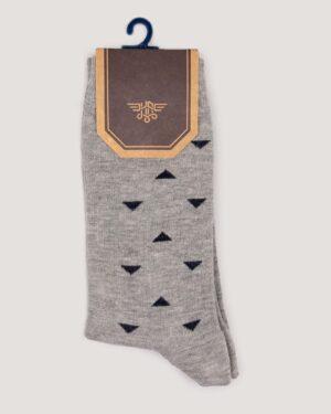 جوراب نخی طرح دار- ملانژ- روبرو